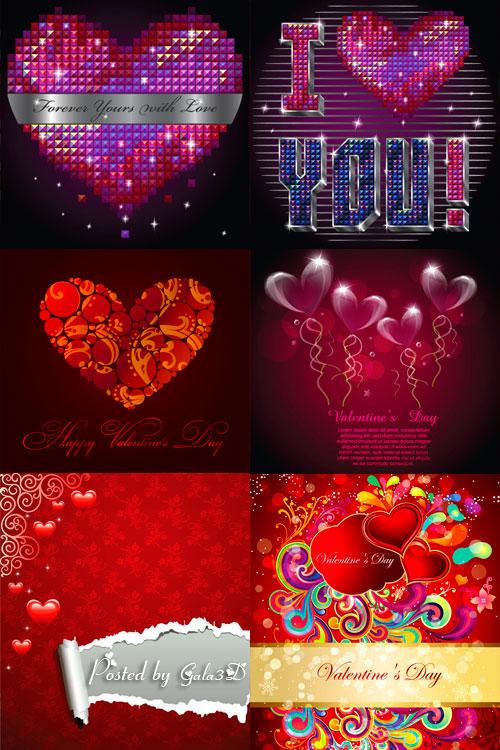 Векторная подборка - С Днём Святого Валентина