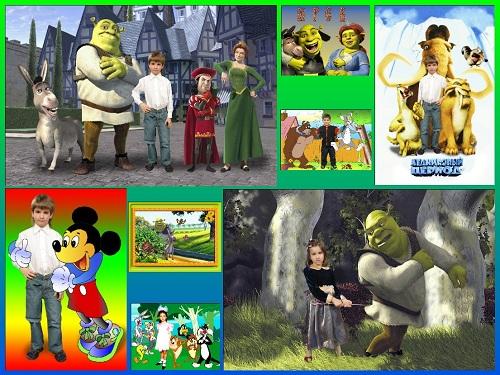 Подборка шаблонов для детей с героями мультфильмов