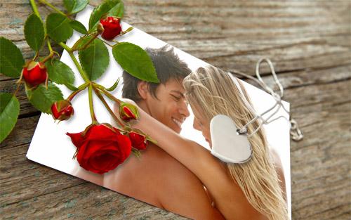 Рамка для фотошоп - фото влюбленных