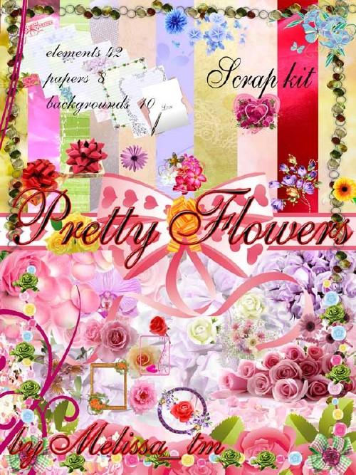 Цветочный скрап-набор - Прекрасные цветы