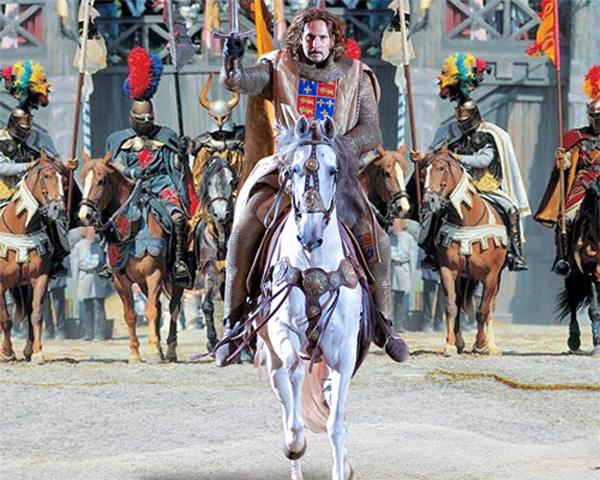 Шаблон мужской - Рыцарь на белом коне