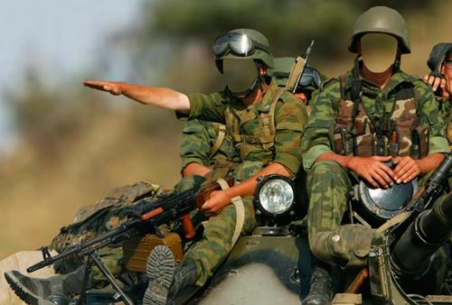 Шаблон для фотошопа  - Солдаты на БТР