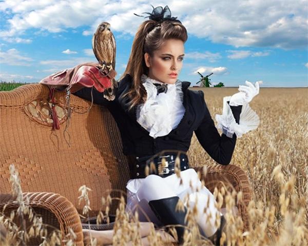 Шаблон женский - Соколиная охота