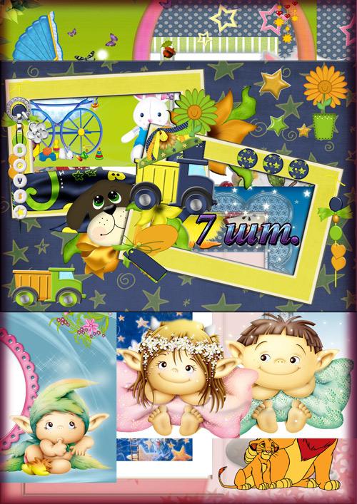 Сборка детских фоторамок
