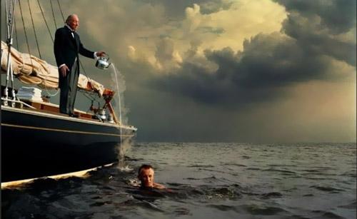 Шаблон для мужчин - купание в теплом море