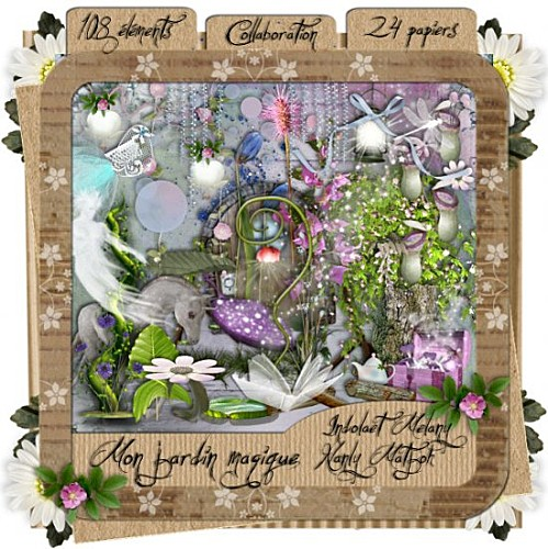 Сказочный скрап-набор - Мой волшебный сад