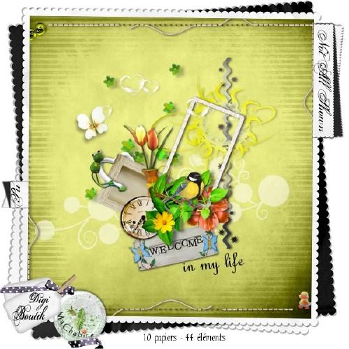 Весенний солнечный скрап-набор - Добро пожаловать в мою жизнь