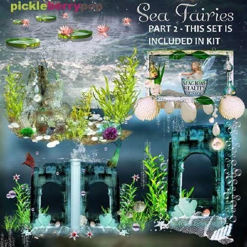 Сказочный скрап-набор - Морские феи часть 2