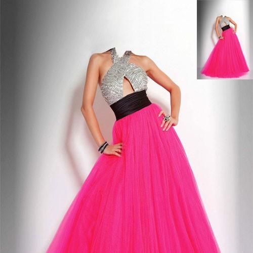 Женский шаблон - восхитительное платье