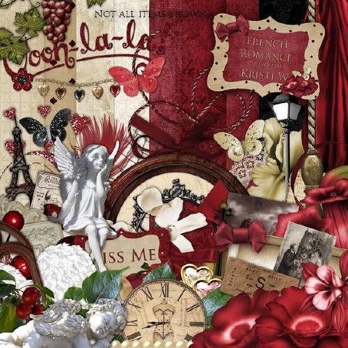 Романтический винтажный скрап-набор - Французский романс