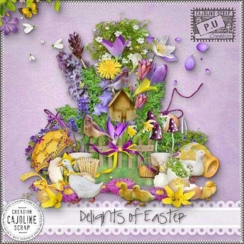 Яркий весенний скрап-набор - Счастливая Пасха