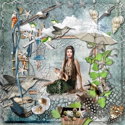 Морской скрап-набор - Сокровища русалок