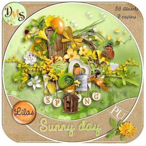 Весенний цветочный скрап-набор - Солнечный денёк