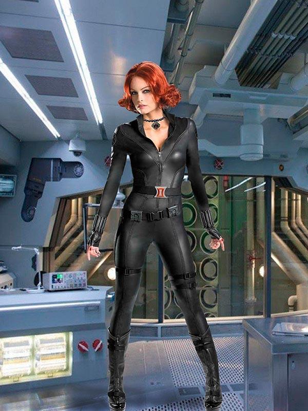 Женский фотошаблон - Чёрная Вдова из Мстителей