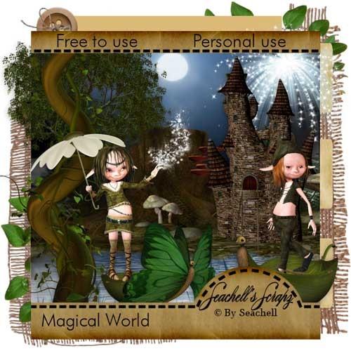 Сказочный скрап-набор - Магический мир