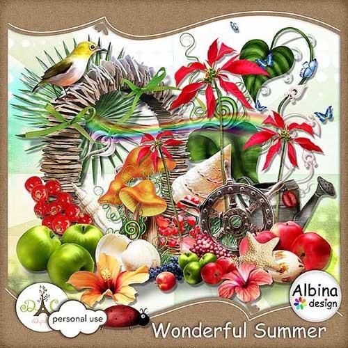 Фруктово-морской скрап-набор - Потрясающее лето