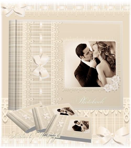 Фотокнига свадебная, винтажная, романтичная, универсальная - Нежные воспоми ...
