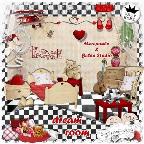 Красивый детский скрап-набор - Комната грёз