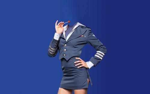Женский шаблон - Женщина в привлекательной униформе