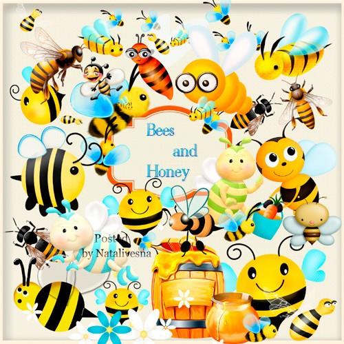 Клипарты в PNG – Маленькие Пчелки