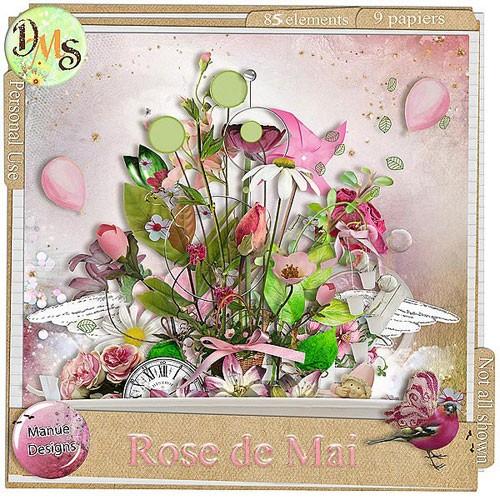Цветочный скрап-набор - Розовый май