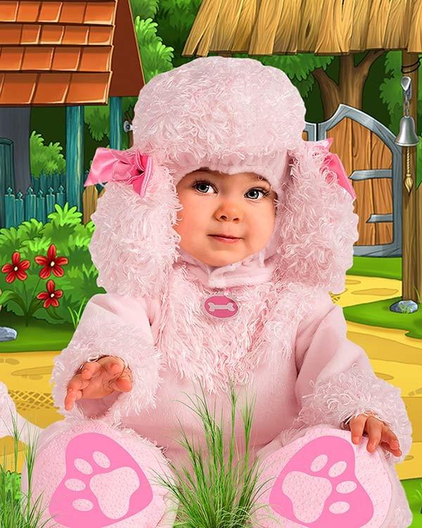 Детский фотошаблон - Маленький пудель