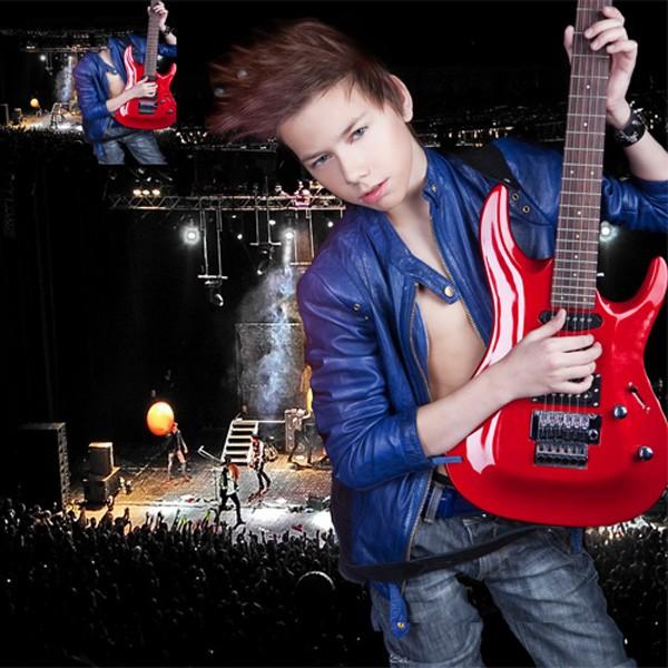 Шаблон  детский - Соло на гитаре