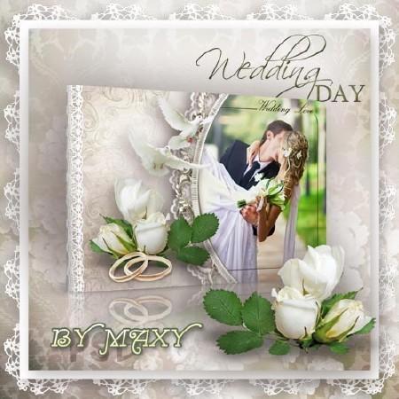 Фотоальбом свадебный дизайн - Самый радостный день