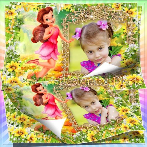 Детская фоторамка для девочки с героиней м/ф Феи - Розеттой