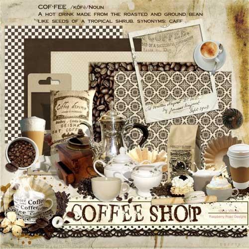 Кофейный скрап-набор - Кофейня