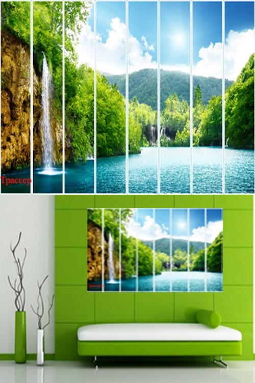 Полиптих в PSD формате – Водопад для амазонок