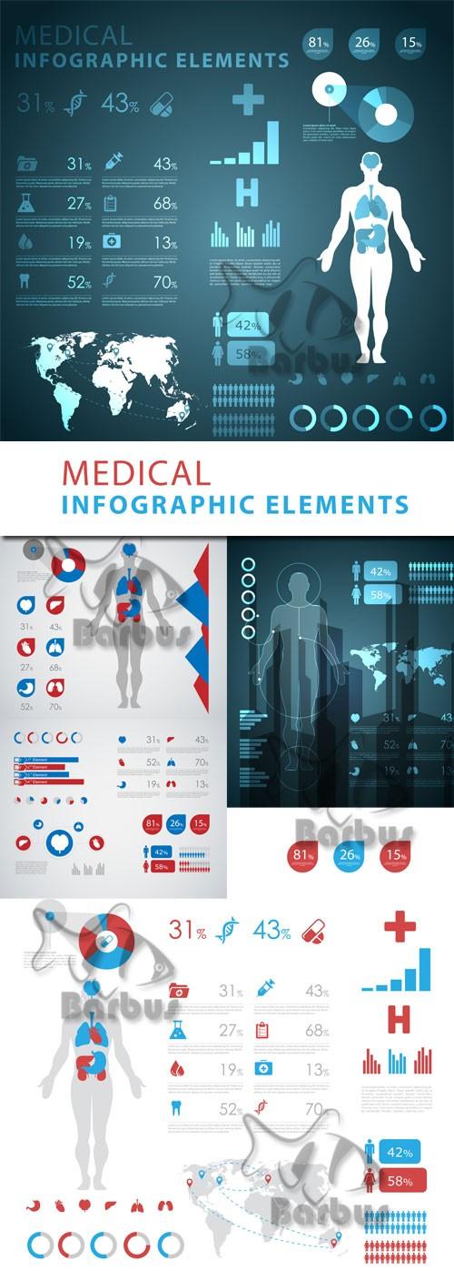Medical infographic elements / Медицинская инфографика