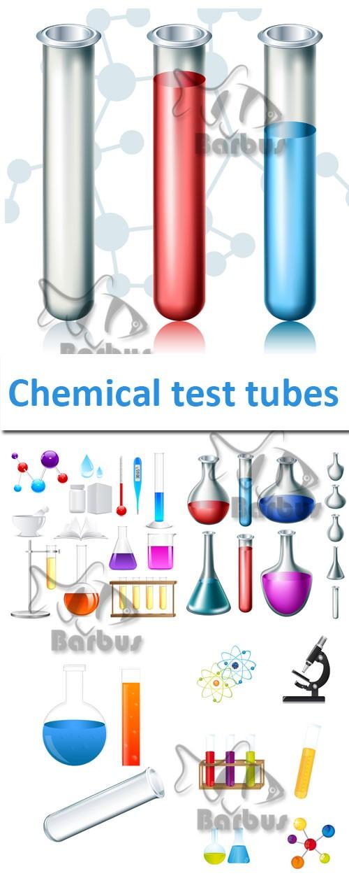 Chemical test tubes / Химические колбы - vector stock
