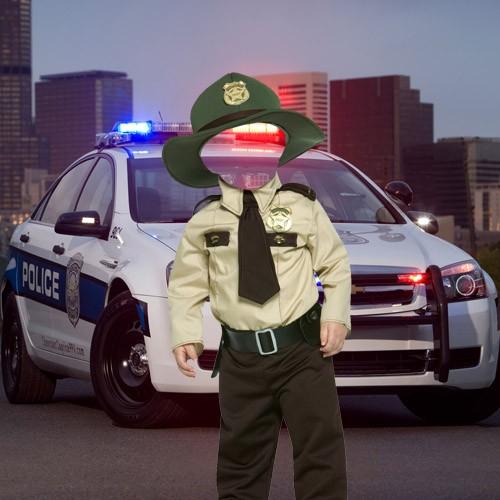 Шаблон для детей - Маленький на страже порядка