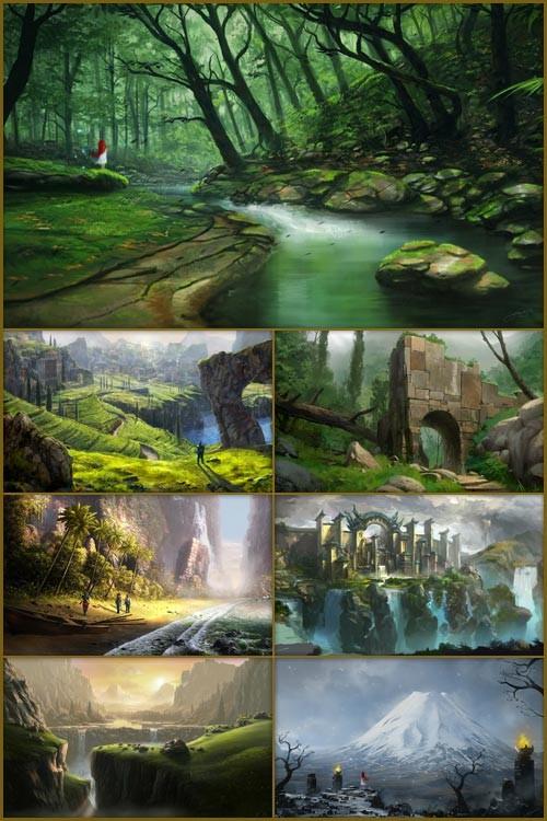 Обои - Фантастические пейзажи