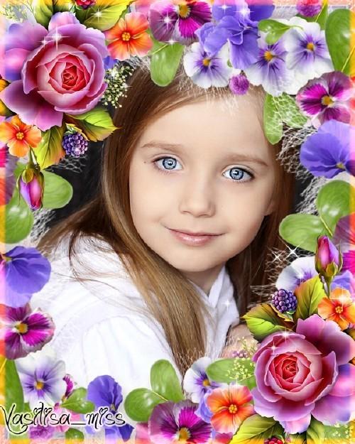 Цветочная рамка - Великолепие цветов