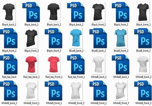 Шаблоны футболок