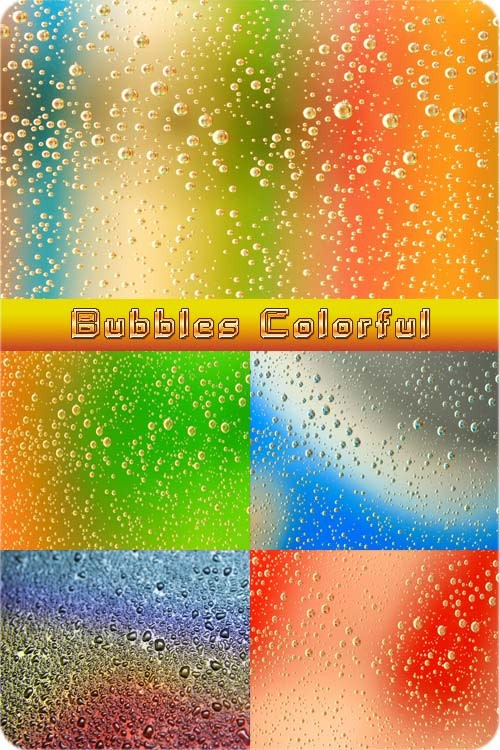 Растровые фоны - Красочные пузыри