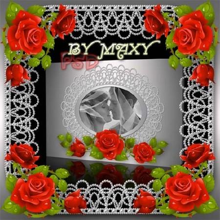 Фотокнига свадебный дизайн - Кружева из жемчуга