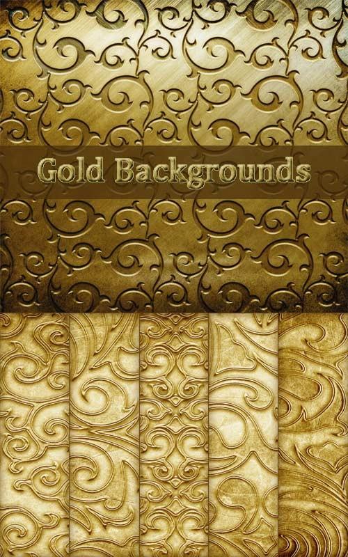 Золотистые фоны с узорами