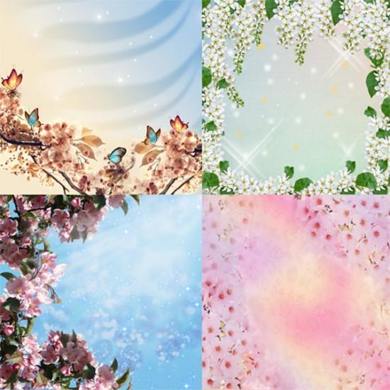 Фоны - Весеннее разноцветие