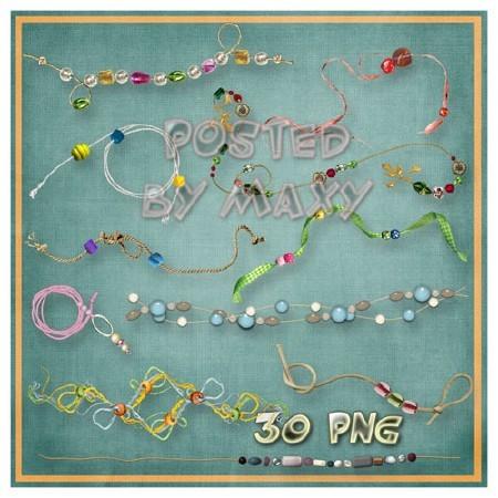 Картинки для дизайна в фотошопе - Бусины на веревках