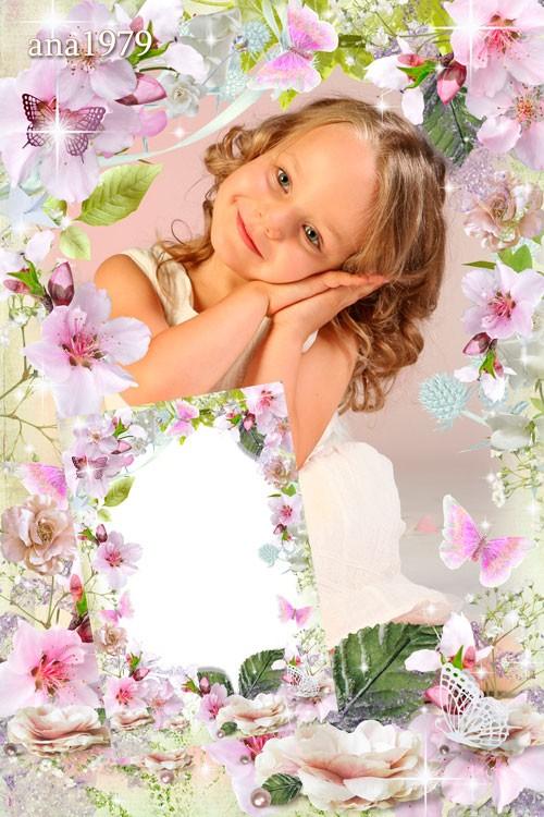 Рамка для фотошопа - Весна, весна! как воздух чист