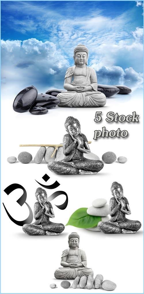 Будда, статуя будды, буддизм - растровый клипарт
