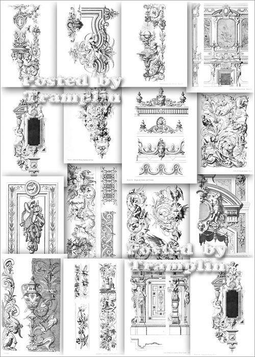 Образцы старинного Мебельного орнамента различного Стиля