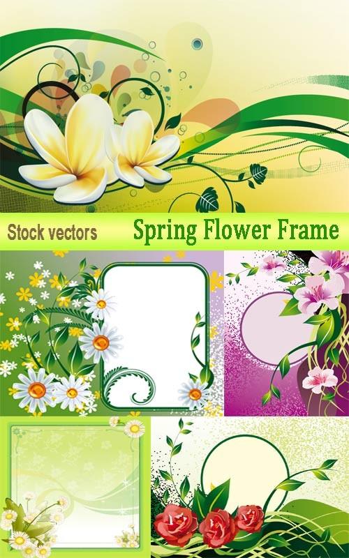 Весенние цветочные рамки