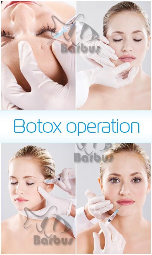 Botox operation / Операция ботокса - photo stock