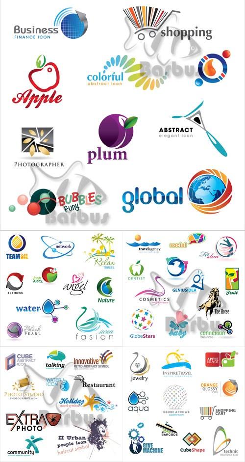 Set of simple logos 2 / Набор простых логотипов 2
