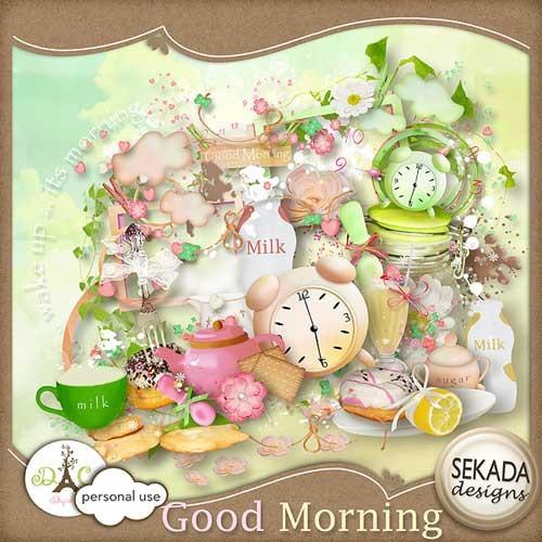 Детский скрап-набор - Доброе утро