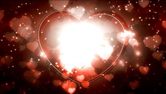 Романтический видео футаж - Большое сердце